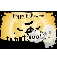 Grungy Halloween Background with Bats vector image
