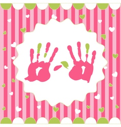 handprint of girl vector image