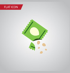 Isolated seed flat icon packet element can vector