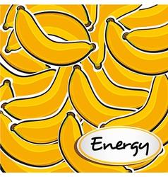 Many banana cartoon grouped on each other backgrou vector