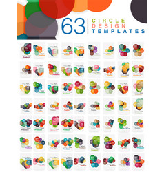 Mega collection of 63 circle business brochure and vector