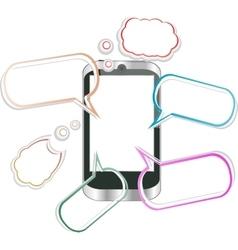 Modern mobile smart phone sending and receiving vector