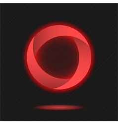 Neon segmented circle icon vector