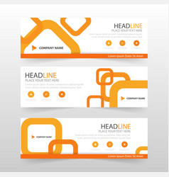 Orange abstract corporate business banner template vector