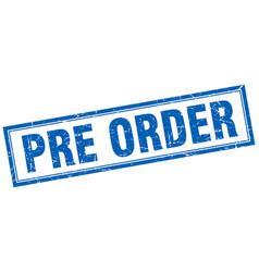 Pre order square stamp vector