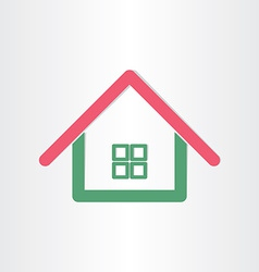 real estate house icon vector image vector image