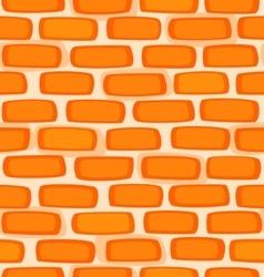 Seamless texture of a cartoon brick wall vector image