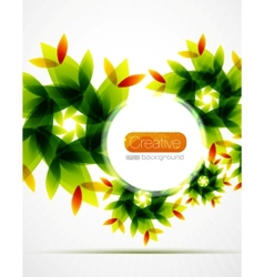 shiny flower background vector image