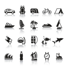 signs tourism travel sports fourth set vector image