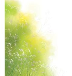 Spring meadow vector