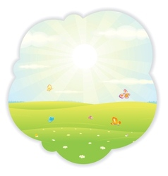 Sunny Summer vector image