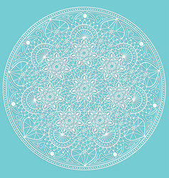 zentangle round colored floral vector image