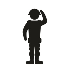 Soldier armed forces military icon graphic vector