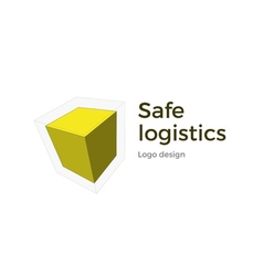 Cubic logo design vector image