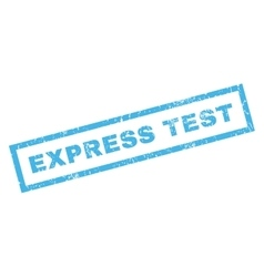Express test rubber stamp vector