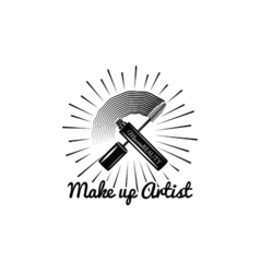 Beauty salon label mascara for eyelashes eye vector