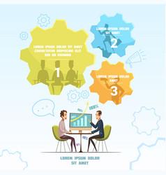 Meeting infographic set vector