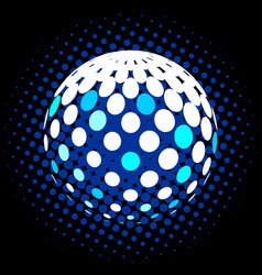 set abstract halftone 3d spheres 28 vector image