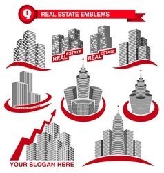 Real estate emblems vector