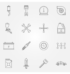 Auto service or repair icons vector