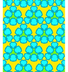 Yellow blue green abstract geometric seamless vector