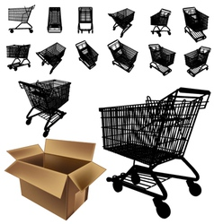 Shopping cart silhouette vector