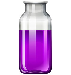 Purple liquid in glass bottle vector