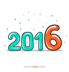 Festive doodle design of a card banner new year vector