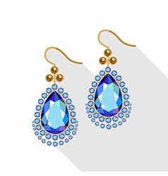 Earrings set vector image