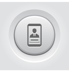 Personal Profile on Phone Icon vector image