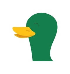 Duck icon farm animal concept graphic vector