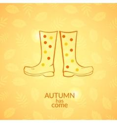 Autumn gumboots icon vector