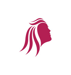 beauty women face silhouette character logo vector image vector image