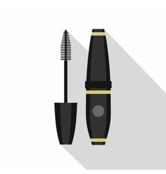 Black mascara icon flat style vector