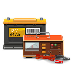 Car battery charge concept vector