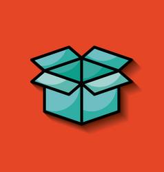 cardboard box image vector image