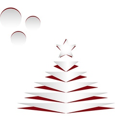Cet Christmas tree vector image