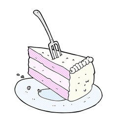 Comic cartoon cake vector
