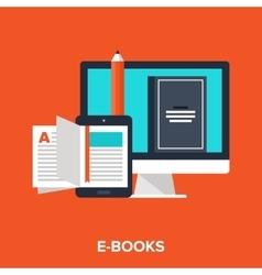 E-books vector
