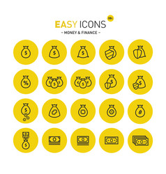 easy icons 08c money vector image vector image