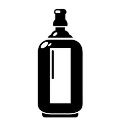 Glass bottle icon simple style vector