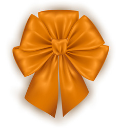 Golden photorealistic bow vector