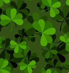 Green clover seamless pattern Plant ornament vector image vector image