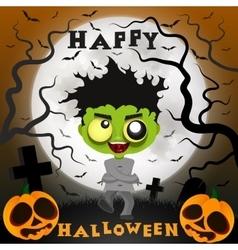 Halloween crazy guy vector