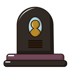 Headstone icon cartoon style vector