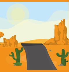 Highway on the desert vector