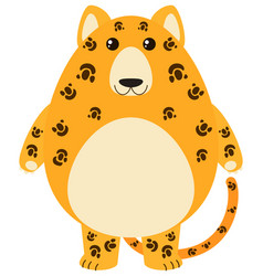 leopard with happy face vector image vector image
