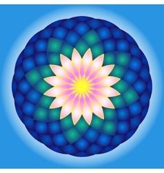 Lotus round mandala vector