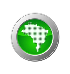 map of brazil button vector image vector image