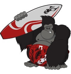 Monkey surfer vector